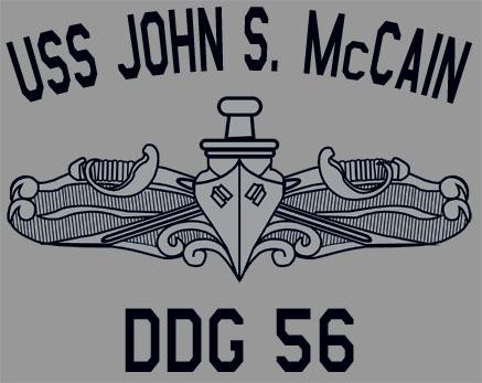US USN Navy USS John S McCain DDG-56 T-Shirt