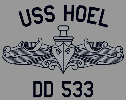US USN Navy USS Hoel DD-533 Destroyer T-Shirt