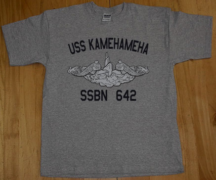 Us navy uss kamehameha ssbn 642 submarine t shirt ebay for Asheville t shirt company