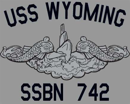 Uss wyoming ssbn 742 submarine t shirt
