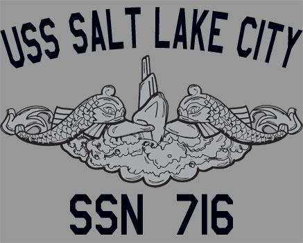 Us Navy Uss Salt Lake City Ssn 716 Submarine T Shirt Ebay