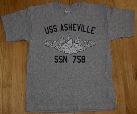 Us navy uss asheville ssn 758 submarine t shirt ebay for Asheville t shirt company